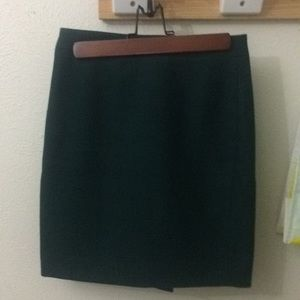 NWOT dark green wool pencil skirt